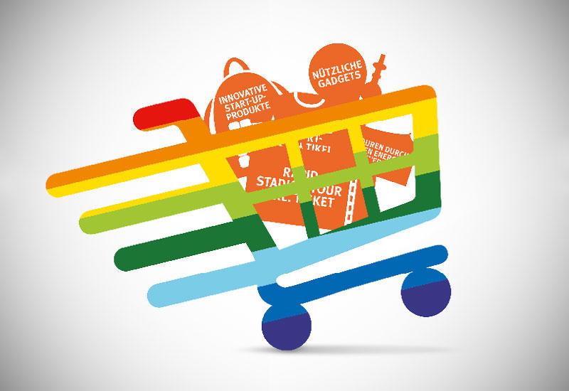 Einkaufswagen mit Bonusgutscheinen